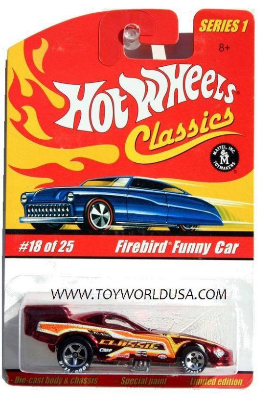 Hot Wheels Classics series 1 #18 Firebird Funny Car red